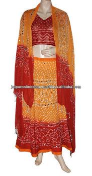 Raas Garba Bandhani Lehenga Choli Dress