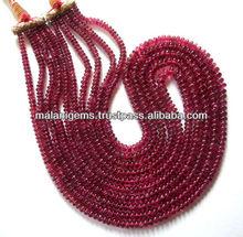 Natural Tourmaline Bright Pink Beads Plain Roundel Gems