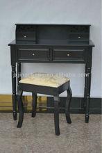 Modern carved black dressing table designs in furniture