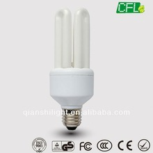 100% tri colour low price 4U Shape 15w CFL bulb Lamp CE/ROHS/SASO/GS