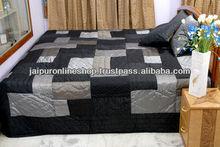 Buy Jaipuri Quilts , Sale Jaipuri Razai , Black Patchwork Quilts