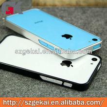 Aluminum metal makeup bumper case for iphone5c