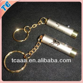 custom metal led torch keychain China OEM