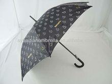 23arc black fiber advertising curved rubber handle umbrella