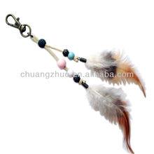 Fashion feather keychain,japanese hanging ornament hanging fairy ornaments,car hanging ornament