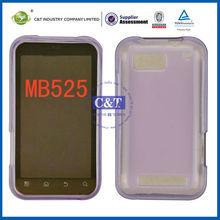 C&T Purple TPU case for motorola mb 525