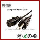 4/10/13/15A 125V USA pvc 3 prong us ac power cord cable