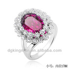 2013 New Design Jewelry Big Oval Diamond Rings For Fashion Girls