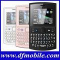 Popular teclado qwerty 2.2 pulgadas de tv de banda cuádruple doble tarjeta sim desbloqueado oem teléfonos de verizon asha205