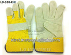 Split Leather Rigger Gloves Yellow Khaadi
