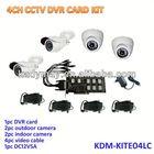 2013 HOT!!! 4ch H.264 Economic Outdoor indoor DVR System Kit,complete cctv kits