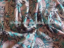 Polyester spandex Satin chiffon/polyester silk like chiffon dress fabric/2 way stretch print chiffon satin
