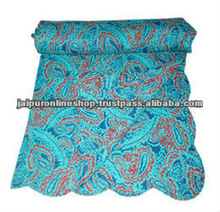 Intricate or floral patterns beautiful colors with Kantha Tagai work kantha quilts and throws