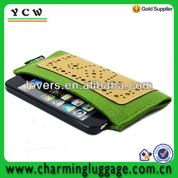 custom felt mobile phone bag for iphone 5