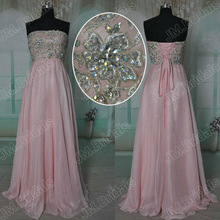 CQ033 Free shipping Real samples 2013 Princess pink strapless embroidery a line long evening dress
