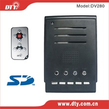 Real time 2ch sd card school bus dvr, motion detect, DV280