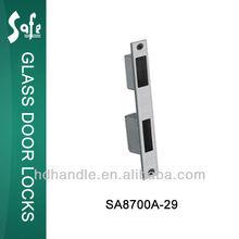 SUS304 grade stainless steel door lock cover plate for glass door locks