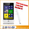 Touch Screen gsm 850/900/1800/1900mhz dual sim cheap cell phone 4 inch