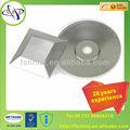 2013 servicio profesional del oem de metal decorativos en las obras de foshan iso9001:2008