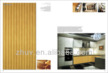 modern style wooden grain fitted kitchen unit