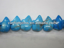 Offer 13x 18mm Dyed Blue Turquoise bear beads
