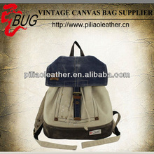 Back to School Canvas Bag/ SchoolBag / Backpack/ Book Bag /Day Pack Fits Macbook