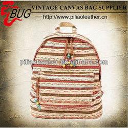 2014 new Fashion bag Handbags women Stripe Candid Tote Canvas backpack Bag