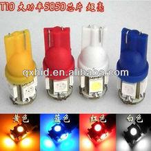 Hot Sale!T10 194 168 W5W 5050 5 SMD 5 LED High Power LED Lights, Led Signal Bulbs Led License Plate Lamps