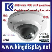 cheap dahu IPC-HDB3200C cctv 1080P camera ip SDK mini with SD card metal case 2 mega pixel mini dome camera vandalproof cctv