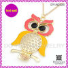 2013 new design zinc alloy owl pendant sweater chain,long chain sweater chain necklace