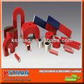 Imán de herradura hecho de la aleación de acero, forma de arco, pintado en rojo