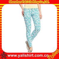 Modern imprint decorated jeans