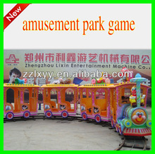 HOT!!!Excting 14seats electric amusement track train for sale