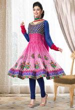 Indian Pink blue salwar kameez