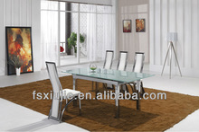 L806E Comtemperary Expanding Glass Dining Room Table,Mirrored Dining Table Set,Dining Room Furniture