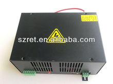 High quality 60w Co2 Laser tube Power Supply for 60w 1200mm 70w 1250mm Co2 Laser Tube