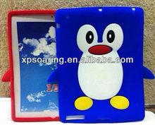 Cute penguin soft case skin cover for ipad 3 ipad 4 ipad 2