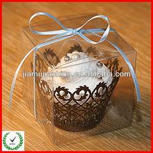 wholesable custom clear single cupcake plastic cake box