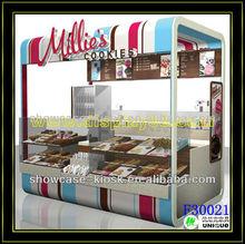 2013 new design food kiosk cart selling hot dot crepe hamburger
