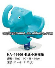 (HA-16606) WHOLESALE EXCELLENT QUALITY AMUSEMENT PARK OUTDOOR SPRING RIDE ,VARIOUS COLOR ELEPHANT OUTDOOR BABY ROCKING HORSE TOY