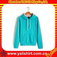 100% Polyester custom plain hoodies clothing