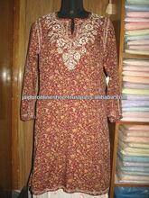 Ladies Fashionable Satin Silk Tunic Top