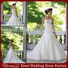M182 Popular Simple Organza Low Back Sweetheart Appliques Latest Design Wedding Dress