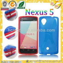 glossy jelly tpu blank phone case for google nexus 5