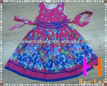 wholesale children clothes girl dress printed frocks evening dress