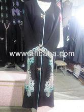 Buy Abaya abhaya burka muslim scarf muslim body covering coat in black color