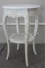 Indonesia Furniture - Louis Small Round Table w Rattan Shelf Under+ASW