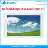 "Hot Sale Ampe A10 3G Dual Core Tablet PC Phone Call GPS 10.1"" IPS Capacitive Screen Bluetooth Sim Card, Tablet PCS Free Shippin"