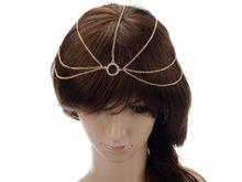 Fashion Women Metal Rhinestone Head Chain Jewelry Headband Head Piece Hair Band 2pcs/lot Wedding Headband