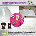 De algodón blanco t- shirt de transferencia de calor de papel, a3/rollo de inyección de tinta de luz/oscuro t- shirt papel de transferencia